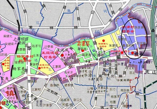 上海虹桥商务区北部的许浦村:大部分要动迁,成为绿化为主的地区